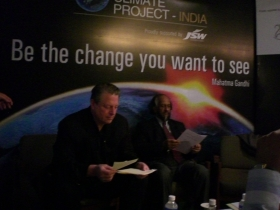 Al Gore and Dr. R.K. Pachauri at the Climate Project-India training