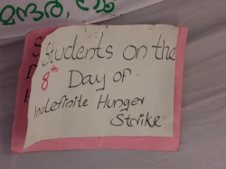 Students on 8th Day of Hunger Strike