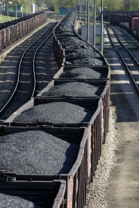 Coal laden train