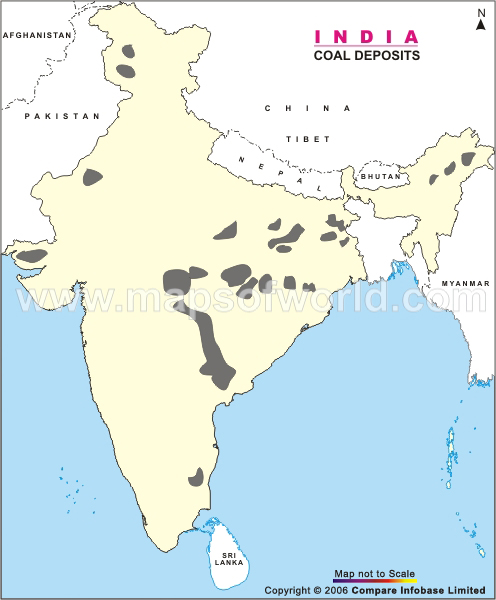 Coal Deposits of India Map