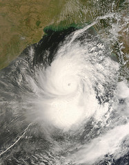Cyclone Nargis off the coast of Burma in the Bay of Bengal