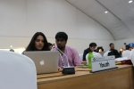 Michelle Pazmino and Kabir Arora from Ecuador & India making the intervention @COP12